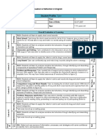 reading evaluation