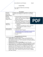 lesson plan- science- testing materials and design 1