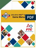 FTC 2015 2016 Game Manual Part II