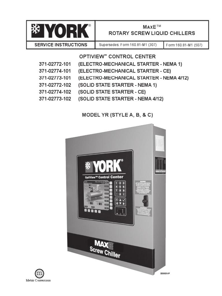 York Yk Chiller Control Wiring Diagram Electrical Diagrams Max E Model Yr Relay Booting Motor