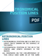 Astronomical Position Lines