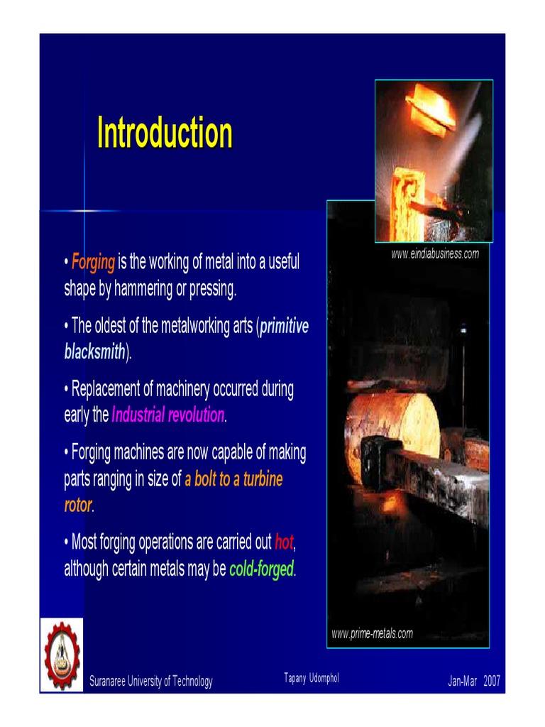 Forging Calculations | Forging | Steel