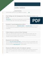 Ceklist New Zealand