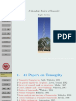 A Literature Review of Tensegrity by Brigitte Servatius