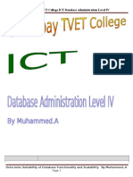ict its4 07 0811      determine suitability of database functionality and scalability
