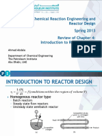 CHEG511 Advanced Reaction Engineering. S(Ch4)