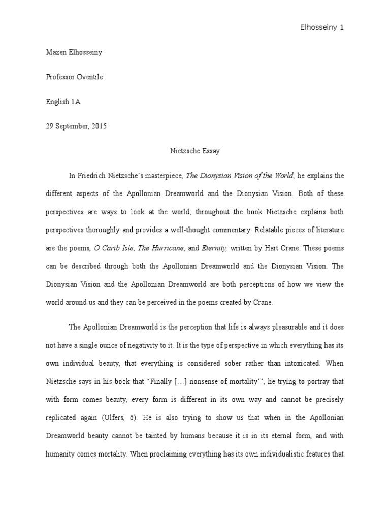 nietzsche essay friedrich nietzsche metaphysics