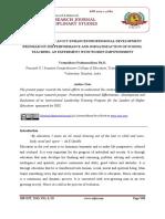 EFFECTIVENESS OF AN ICT ENHANCED PROFESSIONAL DEVELOPMENT PROGRAM ON JOB PERFORMANCE AND JOB SATISFACTION OF SCHOOL TEACHERS