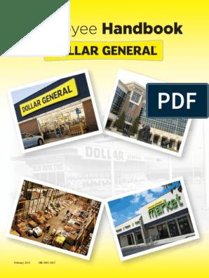 Dollar General Employee Handbook | Harassment | Discrimination