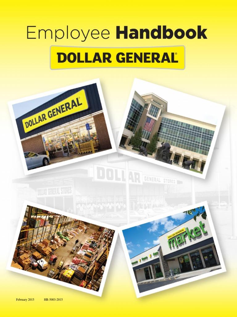 Dollar General Employee Handbook   Harassment   Discrimination