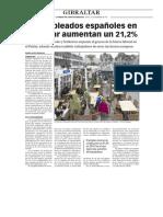 151217 La Verdad- Los Empleados Españoles en Gibraltar Aumentan Un 21,2%