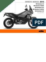 Manual Adventure 990 2010