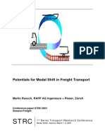 Potentials for Modal Shift in Freight Transport