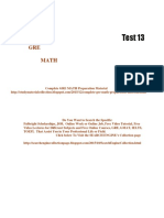 GRE Math Practice Test 13