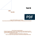 GRE Math Practice Test 14