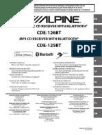 Alpine CDE 125-126 BT