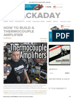 How to Build a Thermocouple Amplifier _ Hackaday