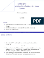 Lecture 6 Linear System Error
