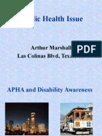 Public Health Issue By Arthur Marshall