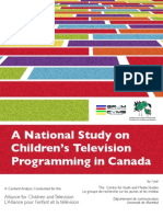 Canadian National Study on Kids TV
