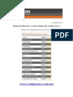 Precios Del Acero al 1 de Abril 2010