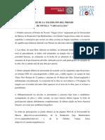 "Bases. XXI Premio de Novela ""Vargas Llosa"""
