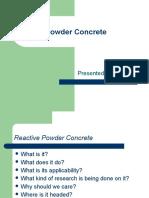 Reactive Powder Concrete
