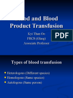 Blood and Blood Product Transfusion