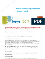 Newstechcafe IBPS PO Interview Questions and Answers Part 1