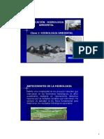 Clase 1. Hidrologia Ambiental Enfoque Amplio [Modo de Compatibilidad]