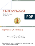 High Order OA-RC Filters Design x ELE3