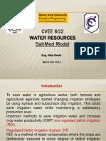 Irrigation Managment-Saltmed Model