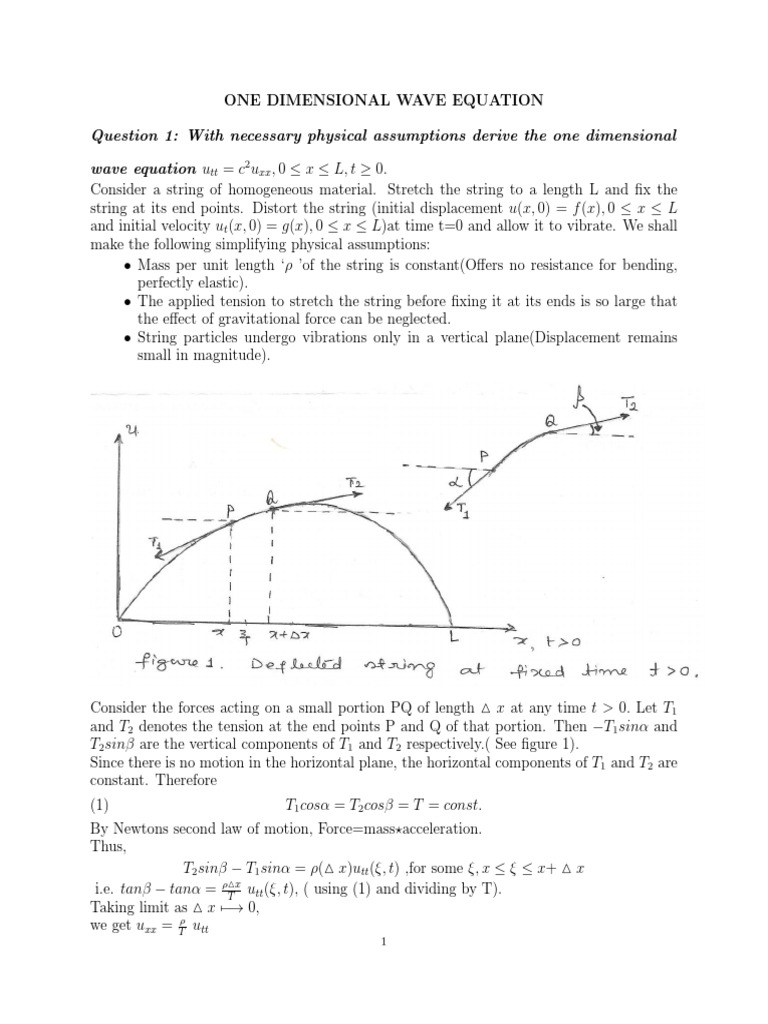 Wave Equation and Heat Equation-new | Wave Equation | Partial
