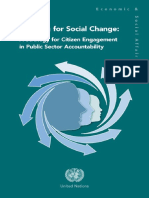 A Strategy for Citizen Engagement in Public Sector Accountability