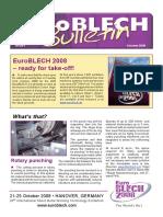 EuroBLECH Bulletin October08-Eng
