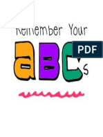 Remember Your ABC