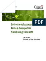 Environmental assessment of animals developed via biotechnology in Canada (Jim Louter)
