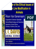 Overview of the Ethical Issues of Germ Line Modification in Animals (Alison Van Eenenaam)