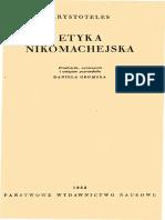 Arystoteles - Etyka nikomachejska ks.1