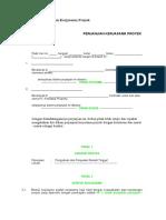 Surat Perjanjian Kerjasama Proyek