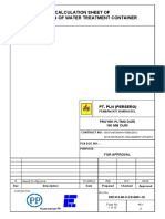 Water Treatment Container Calculation Report