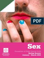 Humanities in Public Festival 15/15 - Sex - Programme