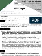 Cumpliendo El Encargo - 13Dic2015