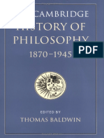 09 the Cambridge History of Philosophy 1870-1945