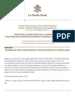 Papa Francesco 20151129 Repcentrafricana Omelia Cattedrale Bangui