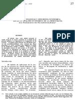 Reformas Politicas y Eficiencias Economica Hacia Un Analisis Economico de La Democracia
