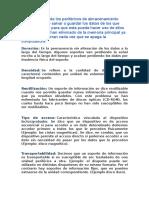 Características de Los Periféricos de Almacenamiento