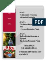 Horario de Navidad y Apertura de Salas en CRAI Antonio de Ulloa