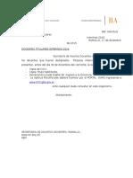 Solicitud Documentación Titulares Interinos 2016