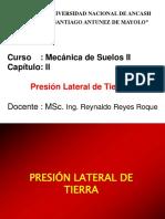 Mecánica Suelos II - Presión Lateral Del Suelo
